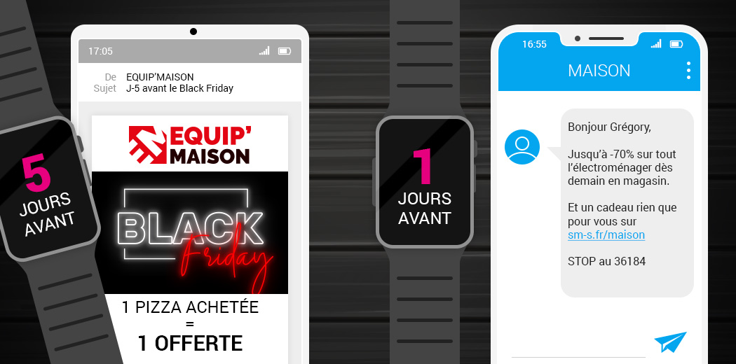 Exemple de campagne marketing pour le Black Friday